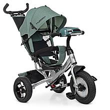 Велосипед M 3115HA-17L три кол.рез (12/10),колясоч.USB/BT,свет,св.ход кол,торм,подшип,хаки лен