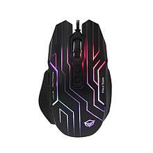Мышь проводная игровая MEETION Backlit Gaming Mouse RGB MT-GM22, черный