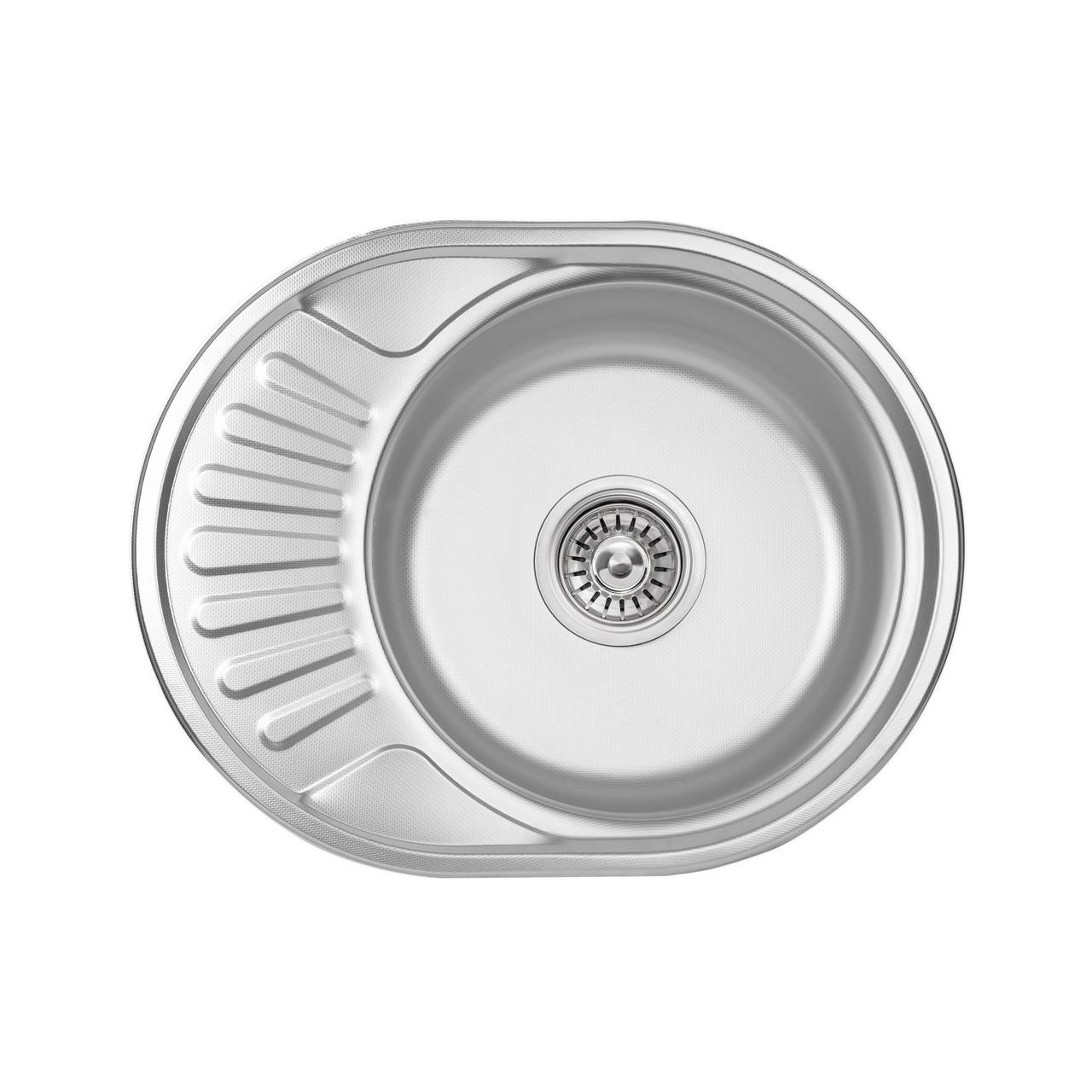 Кухонна мийка Lidz 5745 0,6 мм Decor (LIDZ574506DEC)