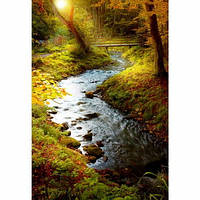 ZENET Настенный пленочный обогреватель картина Ручей в лесу