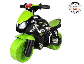 Мотоцикл беговел дитячий ТехноК 5774, чорно-зелений