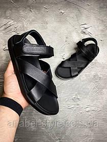 Стильні чоловічі сандалі з натуральної шкіри Baldinini