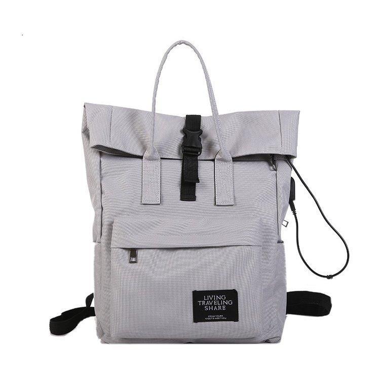 Женский рюкзак сумка, серый рюкзак, городской вместительный рюкзак СС-4641-75