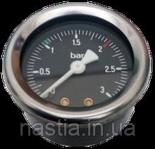 AS058 Манометр(бойлеру, на 1 шкалу), d=52mm, 0-3bar, 1/4-1/4, Astoria
