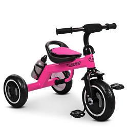 Трехколесный велосипед  Turbo Trike с подсветкой и бутылочкой для воды цвет фуксия M 3648-6