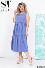 Летнее платье женское Софт Размер 48 50 52 54 В наличии 4 цвета