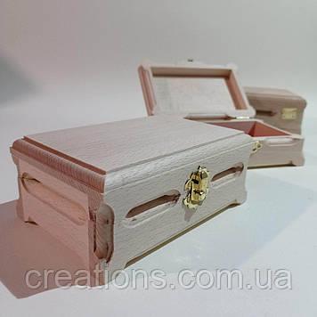 Дерев'яна заготовка для декупажу скринька 16х10х6 см з оксамитом