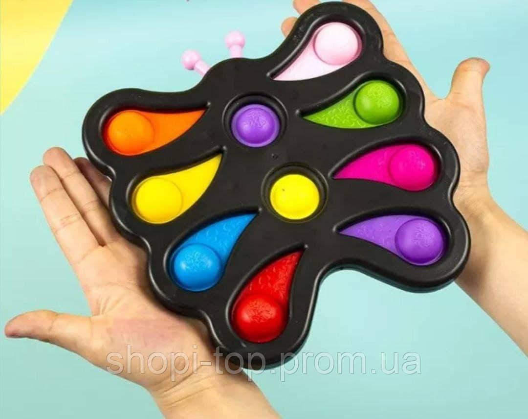 Сенсорна іграшка pop-it, сімпл – дімпл, поп іт антистрес, метелик