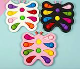 Сенсорна іграшка pop-it, сімпл – дімпл, поп іт антистрес, метелик, фото 2