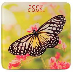 Ваги підлогові скляні (квадратні) на 180 кг YZ-1604 Велика метелик (9859)