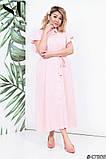 Красиве жіноче плаття на гудзиках Тканина льон Розмір 48 50 52 54, фото 6