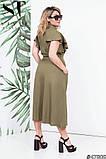 Красиве жіноче плаття на гудзиках Тканина льон Розмір 48 50 52 54, фото 7