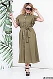 Красиве жіноче плаття на гудзиках Тканина льон Розмір 48 50 52 54, фото 3