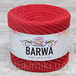 Пряжа трикотажна Barwa (7-9 мм), колір Мак