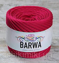 Пряжа трикотажна Barwa (7-9 мм), колір Малина
