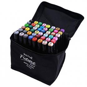 Набор скетч маркеров для рисования Touch Sketch 48 шт двусторонние фломастеры черный корпус