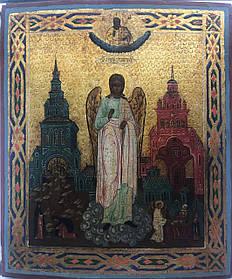 Икона Ангел хранитель 19 век  Россия
