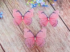 """Аплікація, """"Метелик шифонова"""", двошарова, колір на фото, 47х37 мм, 1 шт."""