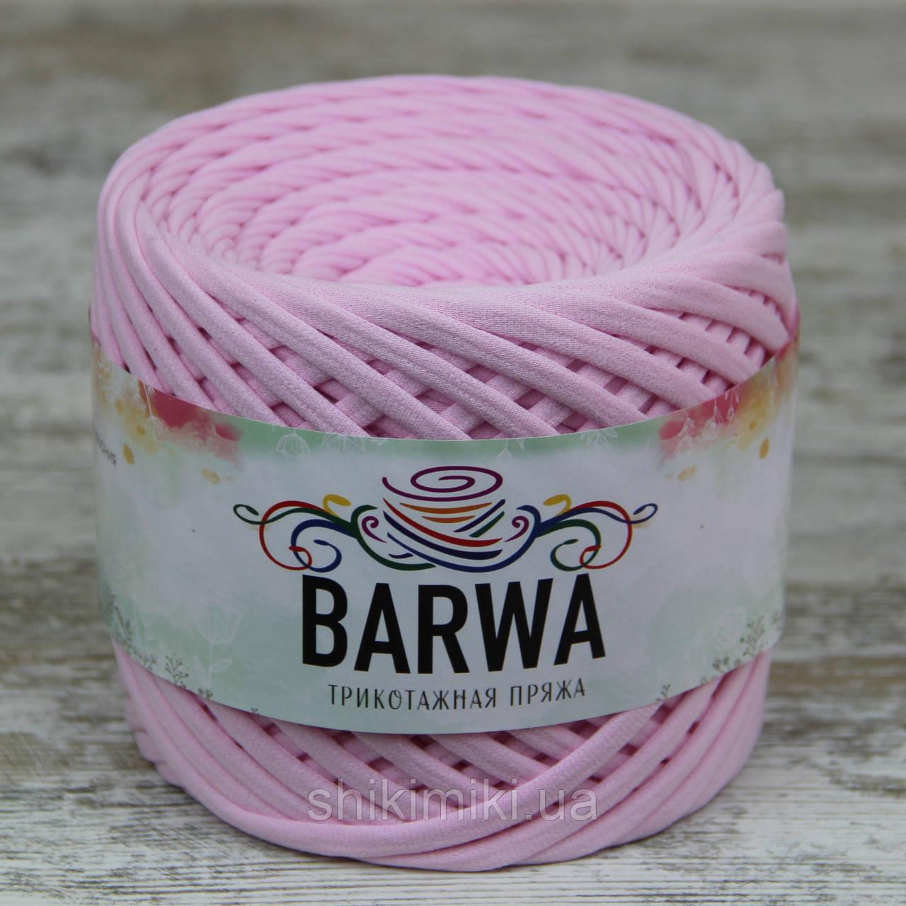 Трикотажная пряжа Barwa (7-9 мм), цвет Светло-розовый