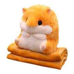 Плед трансформер іграшка Хом'як 3в1 (Іграшка подушка плед), Подарунок на День Народження