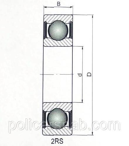 Підшипник радіальний 6209 2RS CX розміри