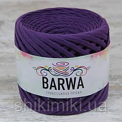 Пряжа трикотажна Barwa (7-9 мм), колір Виноград