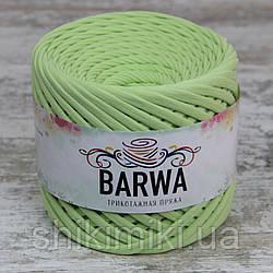 Пряжа трикотажна Barwa (7-9 мм), колір Васабі