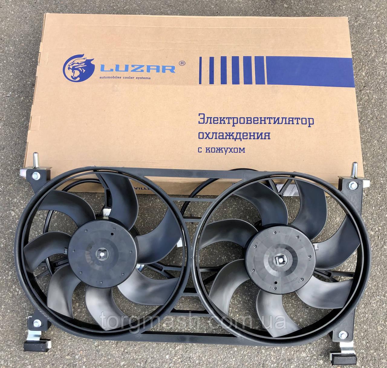 Вентилятор ВАЗ-21214 электрический двойной в сборе Luzar