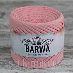 Пряжа трикотажна Barwa (7-9 мм), колір Фламінго