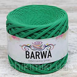 Пряжа трикотажна Barwa (7-9 мм), колір Грін грас