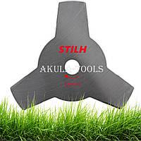 Диск 3-х лопастной штрокий STIHL 250мм по траве для мотокосы и бензокосы
