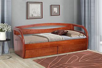 Кровать подростковая Бавария 90х200 с ящиками ольха