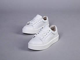 Женские кеды белые кожаные 34