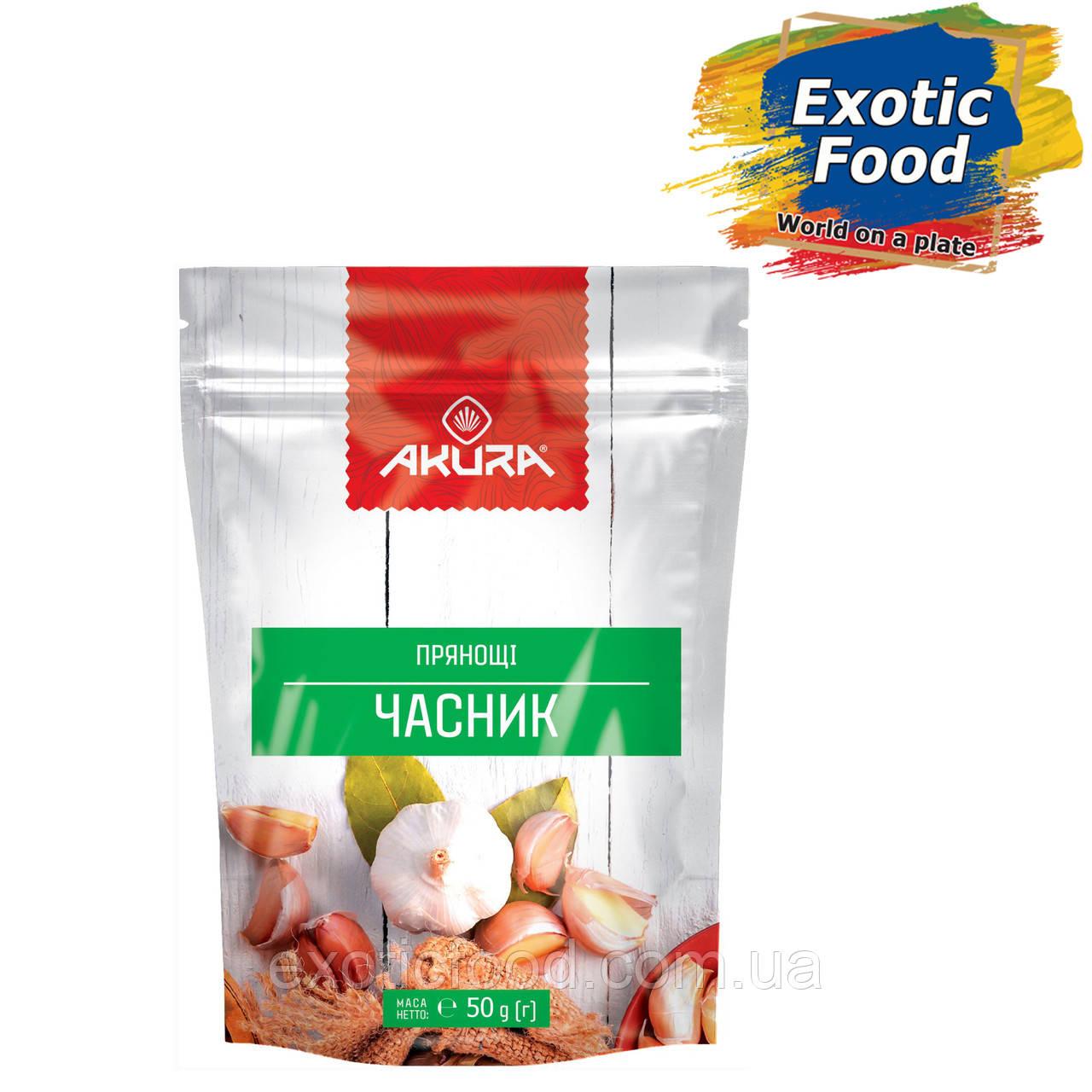 """Чеснок гранулированный 50 г ТМ """"AKURA"""""""
