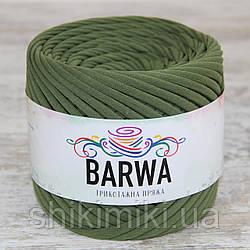 Пряжа трикотажна Barwa (7-9 мм), колір Лавровий