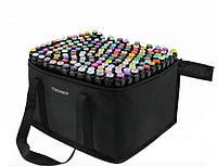 Скетч маркеры набор для рисования Touch Sketch 168 шт двусторонние фломастеры черный корпус