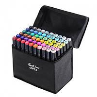 Скетч маркеры набор для рисования Touch Sketch 60 шт двусторонние фломастеры черный корпус
