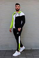 Мужской спортивный костюм Nike с капюшоном, трёхцветный, фото 1