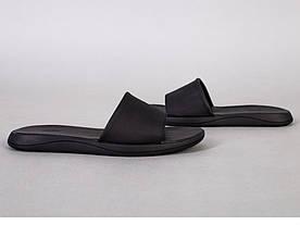 Шлепанцы мужские кожаные черные