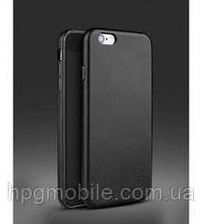 Чехол-накладка для iPhone 6 Plus, iPhone 6S Plus - iPaky Case, кожаный, черный