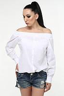 ТМ Ghazel Рубашка женская Виктория белая Ghazel