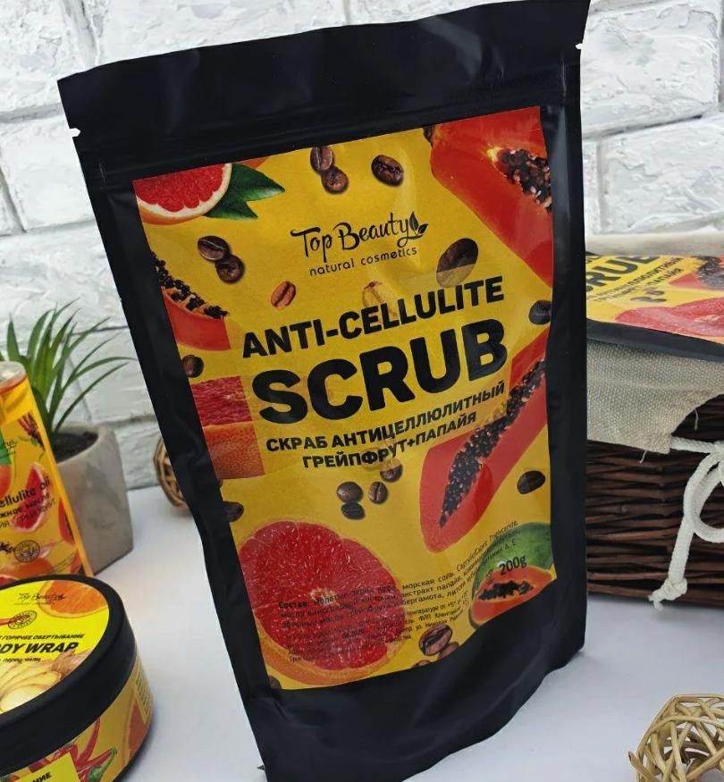 Антицеллюлитный скраб Top Beauty Anti-Cellulite Scrub Грейпфрут - Папайа, 200 g