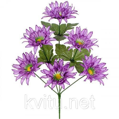 Искусственные цветы букет астры шелковые, 36см