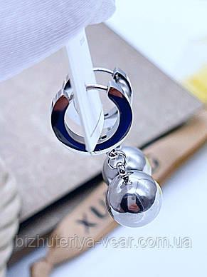СЕРЕЖКИ STAINLESS STEEL XUPING РОДІЙ, фото 2