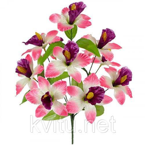 Штучні квіти букет Ірисів атласних, 43см