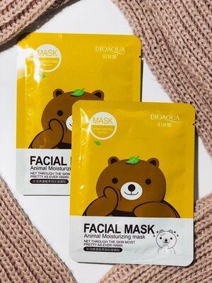 Маска з есенцією зеленого чаю Bioaqua Fasial Animal Mask Bear