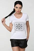 ТМ Ghazel Футболка женская белый квадрат к_р Ghazel