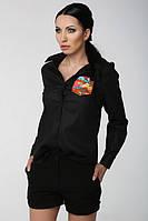 ТМ Ghazel Рубашка женская Дольче черная цв Ghazel