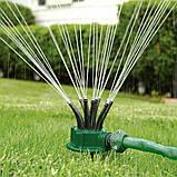 Розумна система поливу Multifunctional sprinkler розпилювач дощуватель для поливу газону на 360 градусів, фото 2