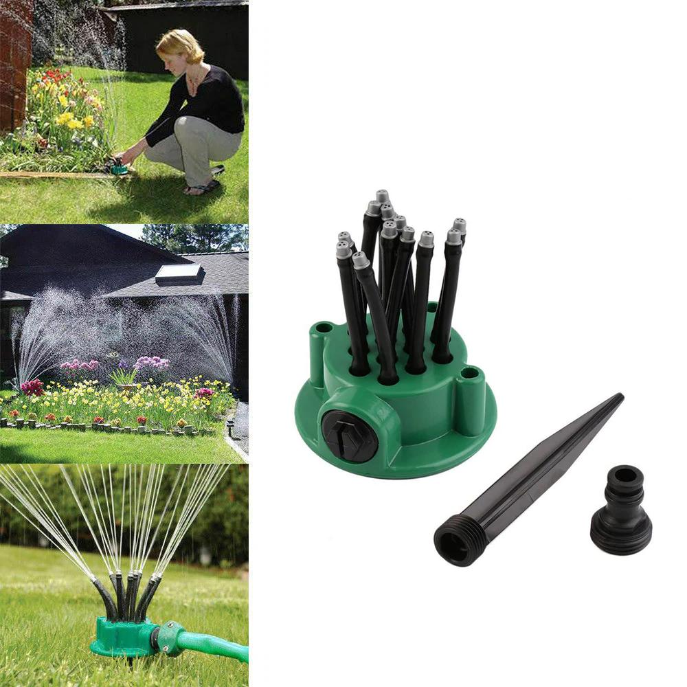 Розумна система поливу Multifunctional sprinkler розпилювач дощуватель для поливу газону на 360 градусів